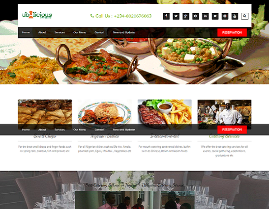 ublicious catering website design